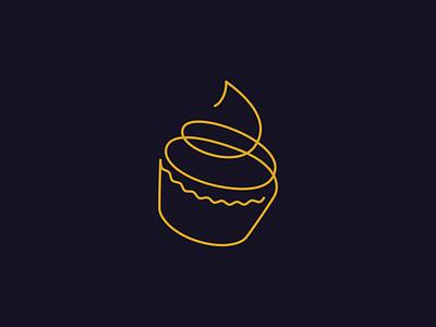 Daily Logo Challenge - Day 18 design daily logo challenge dailylogochallenge branding logo design logo logodesign cupcake logo thin thin line cupcakes cupcake