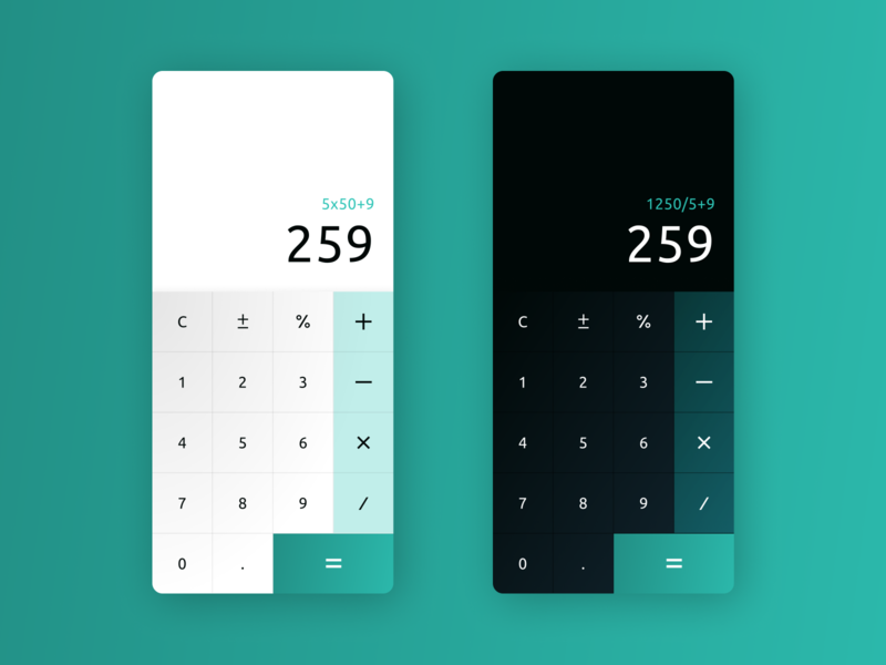 Daily UI 004 - Calculator calculator app calculator ui calculator uidesigns uidesign daily ui daily ui 004 dailyui app design ui