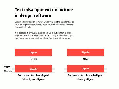 Text misalignment ui tips design software uidesigns uidesign designs hints button design design tutor tutorials tutorial