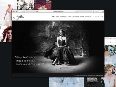 Fashion Designer - Website ui design web fashion web design