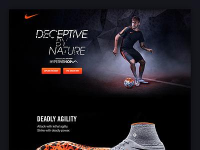 Nike - Hypervenom eCommerce nike web web design desktop ux ui
