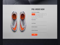 Nike Hypervenom - Web Design - Pre-order