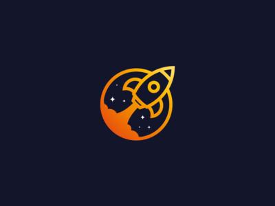 Day 01 - Daily Logo Challenge - Rocket Ship