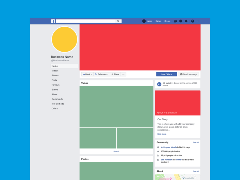 2019 Facebook Business Mockup by Rico Smith on Dribbble