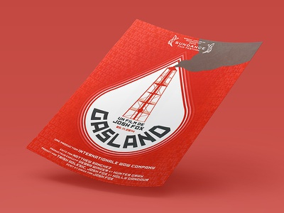 Gasland (Constructivism style) constructivism poster pollution water gas documentary white red gasland