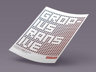 The design without design (Bauhaus style) design poster print minimal simple ive rams gropius white red blue bauhaus