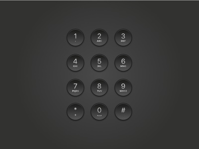 Dial Pad (Skeuomorphism style) design graphic black vector pad dial skeuomorphism