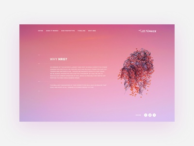 IMG/NRG - XPrize north kingdom art direction visual design user interface 3d carbon colors sky blue pink landing xprize