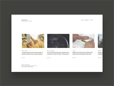 Clément Dumas C. - Portfolio clean white simple minimalist interactive portfolio desktop website design