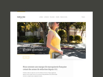 Fauré Le Page minimalist layout digital white yellow french luxury website design fauré le page