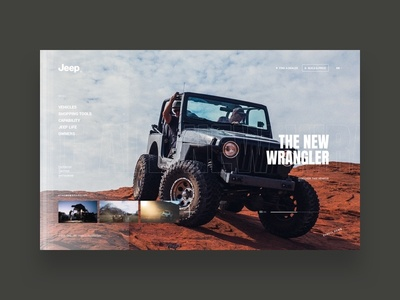 Jeep® visual design user interface redesign digital jeep design website type typography photography white minimalist