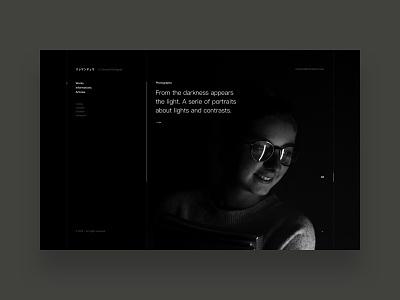 クレマンデュマ ® interaction agency art direction minimalist white black photography typography type website digital folio design user interface visual design