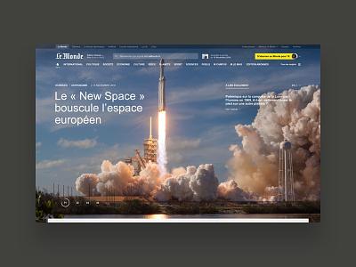 Le Monde lemonde newspaper freelance ui brand type photography art direction user interface typography visual design minimalist website digital design