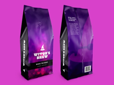 Witch's Brew Coffee rebound witches halloween branding product design packaging design coffee graphicdesign design dribbbleweeklywarmup