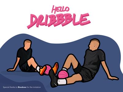 👋🏽 Hello Dribbble 🔥 thanks invite invitation follow design debut dribbble dribbble invite hello dribble