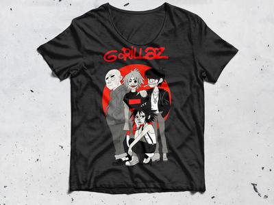 Gorillaz Front T-Shirt Mockup