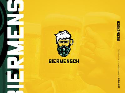BIERMENSCH™ illustrator illustration art logo shop cervejaria beer label beer branding vector branding beer art illustration cartoon cerveja cerveza beer bier