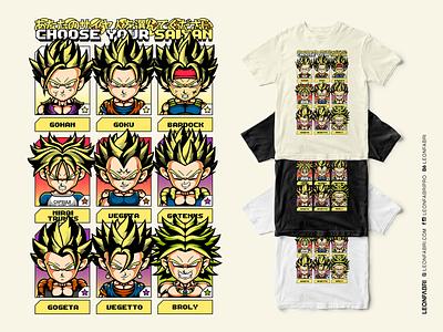 CHOOSE YOUR SAIYAN dragon ball super dbz shonen tshirt drawing anime vegeta gohan goku dragon ball dragon ball z