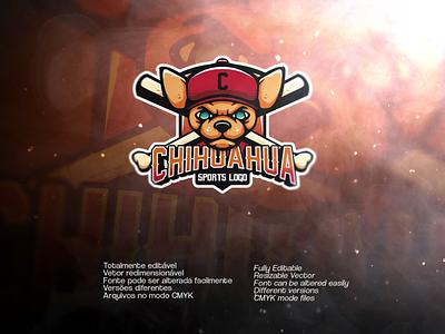 Chihuahua Sports Logo   Available on Envato vector chihuahua envato sports design sports logo sports logo
