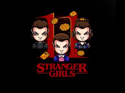 Stranger Girls   Estampa/Print design vector t-shirt t-shirt illustration geek illustration art illustration illustrator print stranger things