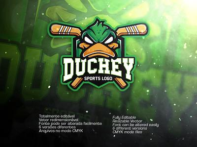 DUCKEY SPORTS LOGO   Available on Envato envato illustration art vector duck animal sports logo animal logo sports design sports logo design sports sports logo duck logo