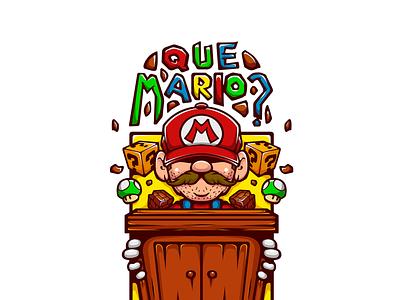 QUE MARIO? envato illustration art vector gaming cartoon illustration jogo jogos games game nerd nintendo geek mario mario bros