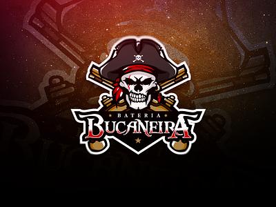 BATERIA BUCANEIRA   SPORTS LOGO bucaneira pirata illustration art illustration branding logo sports sports logo gaming vector pirates of the caribbean pirate