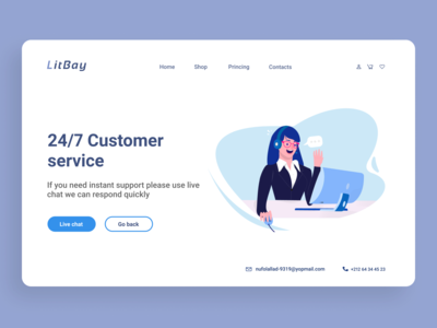 Customer Service and Support Landing Page
