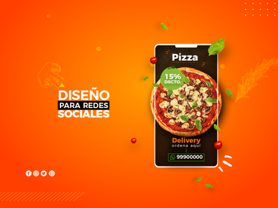 Tony Hall - UX Design Pizza store responsive redes sociales diseñador grafico diseñador web paginas web photoshop illustrator branding app website web logo art design
