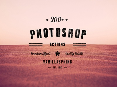 200+ Photoshop Actions Photo Effects