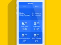BēStats – Bēhance Stats App (WIP)