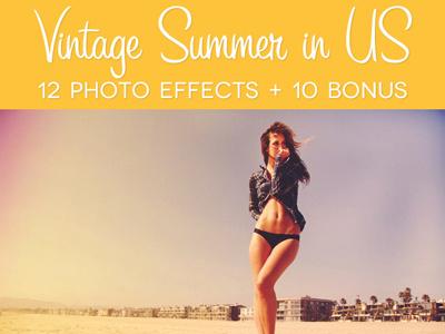 Vintage Summer in US photo effect photo effect vintage retro us photography photographer photo effects fashion flare sun flare premium tweak
