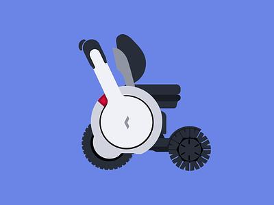 WHILL EV Illustration vector branding mobility iot car vehicle illustration
