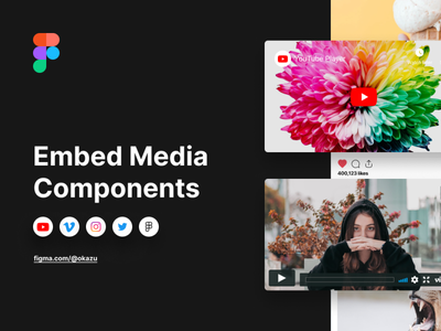 Embed Media Components media embed logo tool app icon platform components figmadesign figma