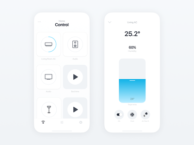 Smart Home Controller animation branding product design iphone mobile smarthome smart setting rule control home room ui design iot development ux ui iot ios icon app