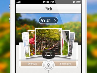 PEN pic 2.0 brand leather ios camera iphone mobile photo retina white timeline app