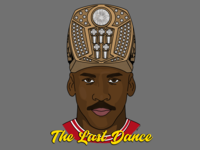 The Last Dance - The Final Act chicago champions rings king 23 pippen basketball nba bulls the last dance jordan mj vector pandemic quarantine isolation america sticker design illustration