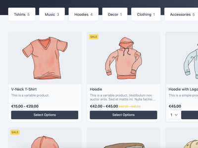 Product Card price variation light tailwind loop archive sale shopping ecommerce shop categories addtocart card product woocommerce
