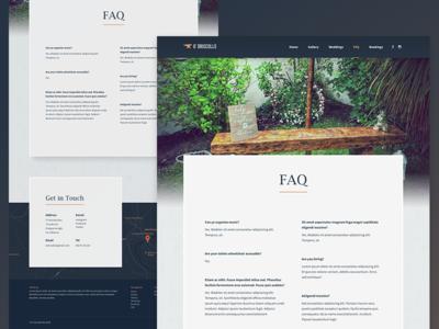 O' Driscolls Bar | FAQ faq site anvil pub irish typography branding ui nav ireland kilkenny design website web design