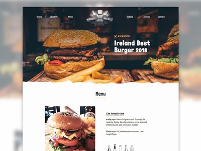 Restaurant Landing Page ireland typorgraphy naval design ui website web desgin burger menu landing page burger food restaurant