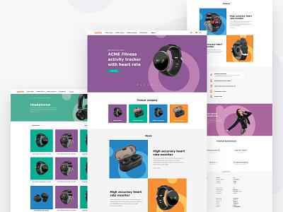 Acme - ecomerse project landscape shop landingpages landing mobile design acme web website ecomerce eshop mobile ui mobile ux ui