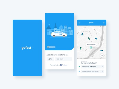 Gofast - taxi app analysis prototype research appdesign booking uber bolt taxi taxi app animation app