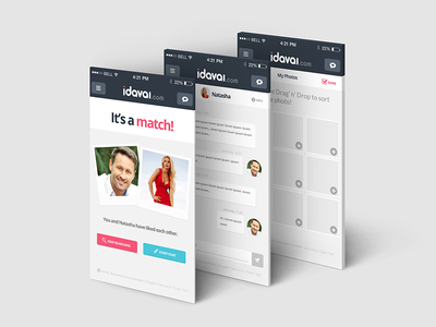 iDAVAI - Meet Eastern European Girls mobile app design web ux ui