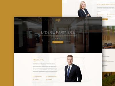 Law Office Showcase landing design low ui web