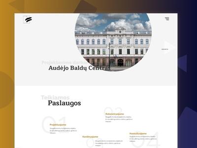 Dalis Edvės - Architectural studio website creativity design fancy ui ui architecture