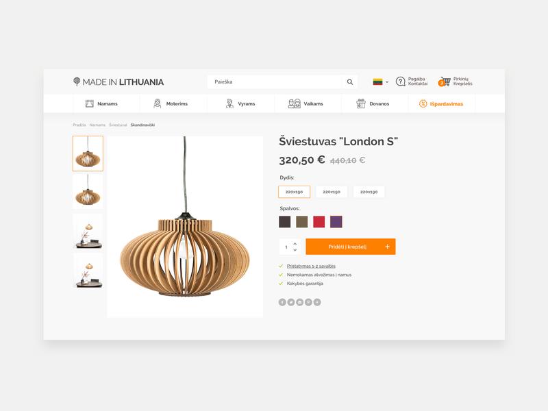 E-shop product page product card product eshop shop ui elements stile minimal simple ux ui web components design