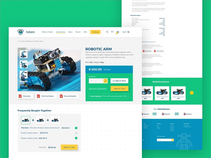 Totem - Discover the joy of making electronic ui pack mode system totem green robotic design identity ui ux landing components web