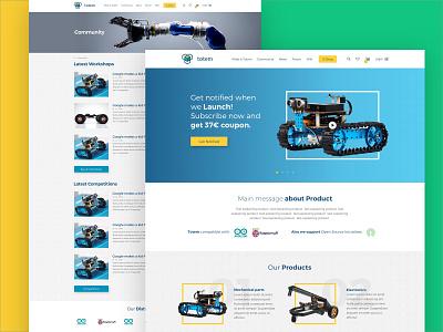 Totem - Discover the joy of making components nav gradients ux desinger website landing electronic comunity eshop robotic totem userinterface userexperience ui  ux ui color