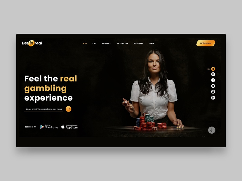 BetinReal - gambling solution digital design digital product design app landing ux animation ui design concept website design website blockchain icon gambling art vr