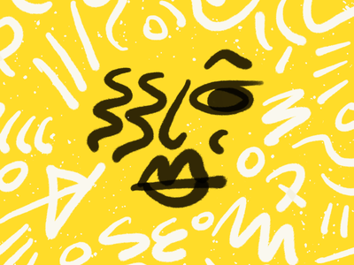 Spunk hair lips mouth eye girl illustration people yellow procreate person woman girl character